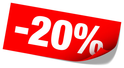 "Sticker Tag ""Sale"" -20%"