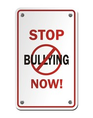 stop bullying now signs