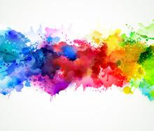 "Постер, картина, фотообои ""Bright watercolor stains"""