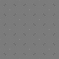 Seamless geometric texture. Circles pattern.