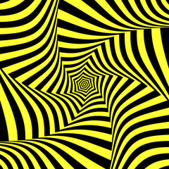 Illusion of torsion movement. Abstract design.