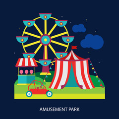 kids circus fun fair illustration vector