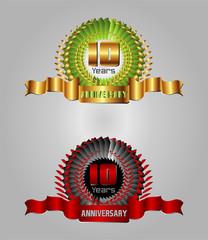 Anniversary10 years vector set