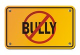 stop bully - yellow signs poster
