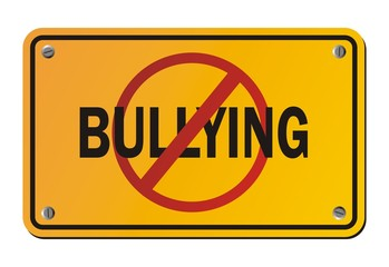 stop bullying - yellow signs