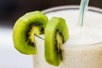 Smoothie with kiwi and banana