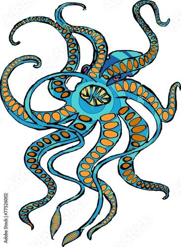 Kraken mythical sea monster