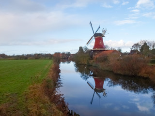 Greetsiel, traditional Windmill