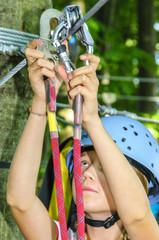 Einhängen im Seilpark