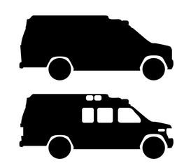 ambulance icon on white