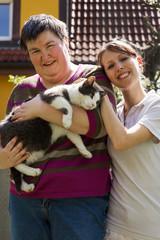 tiertherapie mit hilfe einer katze