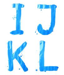 Oil paint hand drawn letter set
