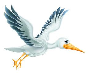 Stork Flying Cartoon