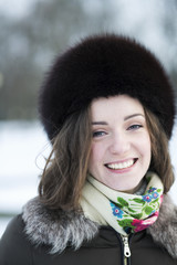 A white-teech female smile