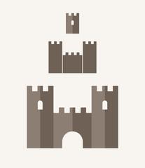 Castle. Icon set