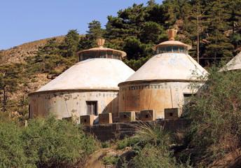 Modern mongolian yurt in Helan mountains, Ningxia, China