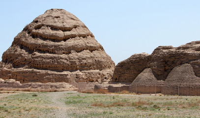 Ancient Western Xia tombs in Ningxia province of China