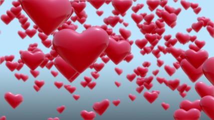 Beautiful Hearts.Seamless loop