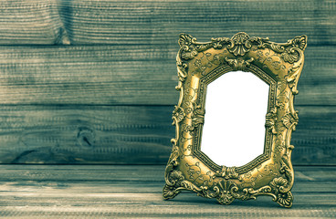 Golden baroque frame with place for your picture