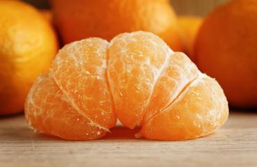 Tangerines on wood