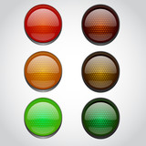 Traffic lights isolated on white - 77532467