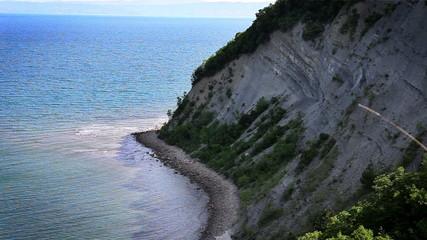 Shot of the cliff near Piran