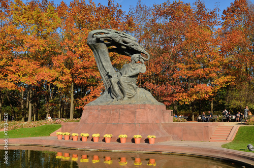 Spoed canvasdoek 2cm dik Standbeeld Pomnik Chopina