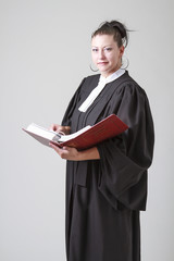 Holding a book of law