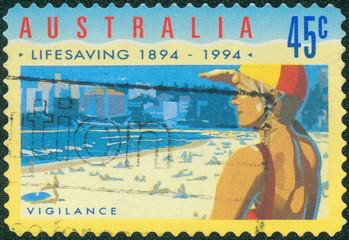 stamp printed in Australia shows Vigilance