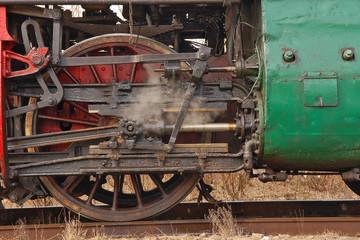 Wheels steam train