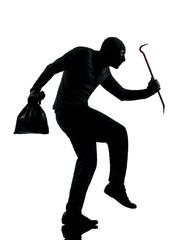 thief criminal walking quiet silhouette