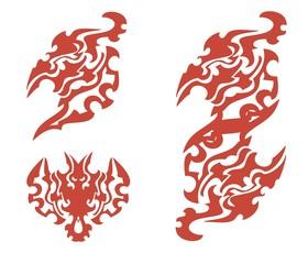 Flaming phoenix symbols