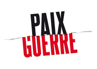 Paix vs Guerre