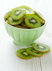 kiwi slices in a bowl