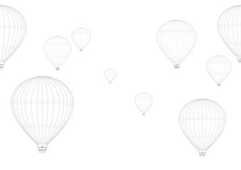 熱気球のイラスト素材