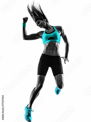 woman fitness dancing exercises silhouette