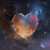 Space heart - 77537677