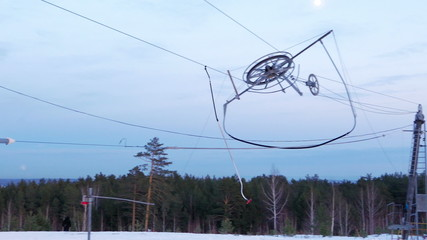Work ski lift. top