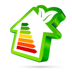 House Icon Energy Green Leafs