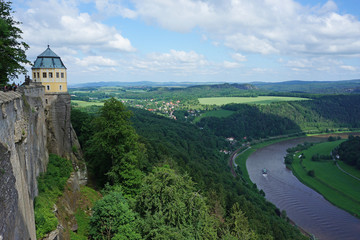 Fort Königstein in Saxon Switzerland