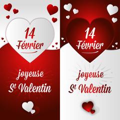 Carte postale Saint Valentin offrir amour français 14 février
