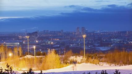 Sunset City. Ekaterinburg. Time Lapse