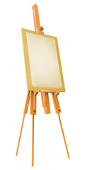 Easel with paper