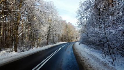 Winterliche Strassenverhältnisse