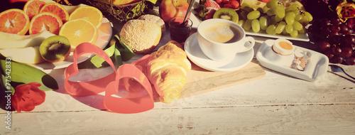 Leinwanddruck Bild Frühstück
