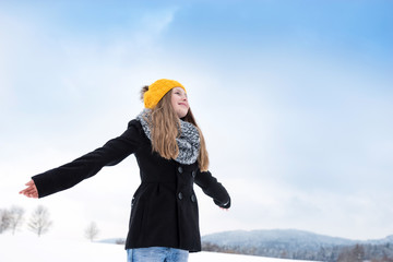 Tween Girl enjoying the Winter