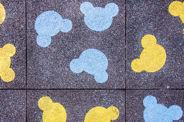 The playground with cartoon pattern colors