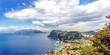Leinwanddruck Bild - Blick über Capri und die Amalfiküste