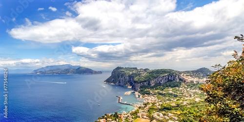 Leinwanddruck Bild Blick über Capri und die Amalfiküste