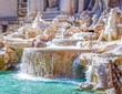 Leinwandbild Motiv Rom Trevi Brunnen